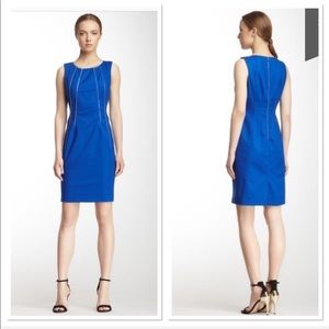 Calvin Klein Zippered Shift Dress Career Dress